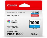 CANON PFI-1000 C Tinte, cyan 80ml