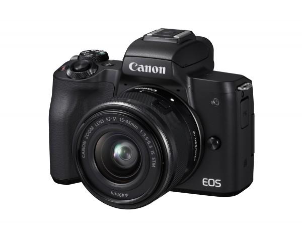 Canon EOS M50 & EF-M 15-45mm/3,5-6,3 IS STM Kamerakit, schwarz