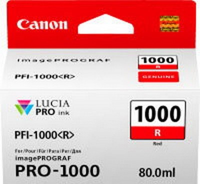 CANON PFI-1000 R Tinte, rot 80ml