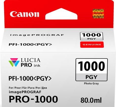 CANON PFI-1000 PGY Tinte, phoo grey 80ml