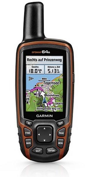 Garmin GPSMAP 64S mit TOPO TransAlpin+ Pro Orange/Schwarz