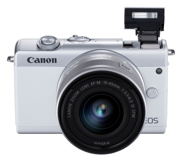 Canon EOS M200 & EF-M 15-45mm/3,5-6,3mm IS STM weiß SET