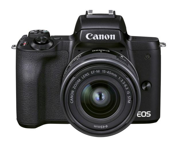 Canon EOS M50 II schwarz+EF-M 15-45 mm IS STM
