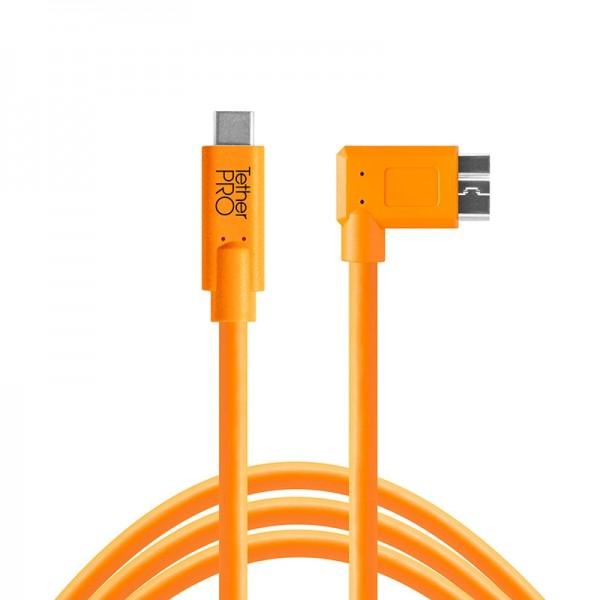 Tether Tools Pro USB-C an USB 3.0 Micro-B - 4,6 Meter rechtsgewinkelt Kabel