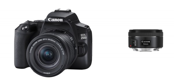 Canon EOS 250D+EF-S 18-55 IS STM+1,8/50 STM Kit