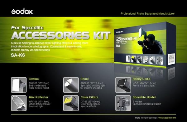 Godox SA-K6 Lichtformer Set für Systemblitze
