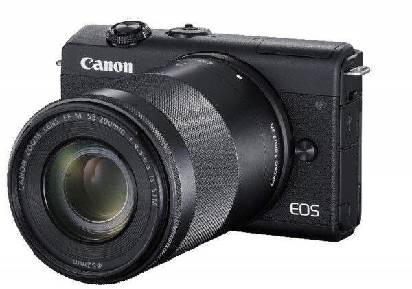 Canon EOS M200 & EF-M 15-45mm & 55-200mm IS STM schwarz SET