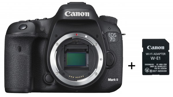Canon EOS 7D Mark II Kit, Body+ W-E1 WiFi Adapter