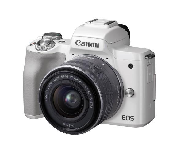 Canon EOS M50 & EF-M 15-45mm/3,5-6,3 IS STM Kamerakit, weiß