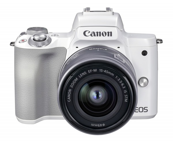 Canon EOS M50 II weiß+EF-M 15-45 mm IS STM