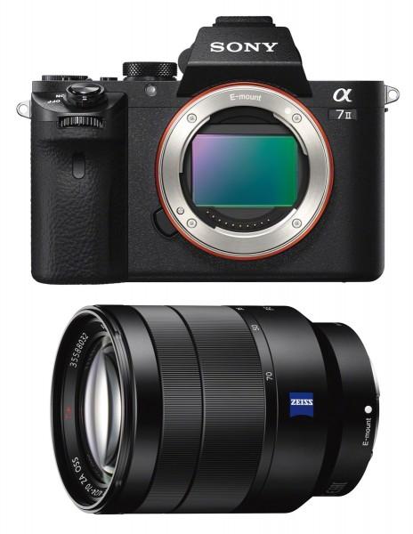 Sony Alpha 7 II + 24-70 mm/4 ZA, schwarz, Zeiss-Kit