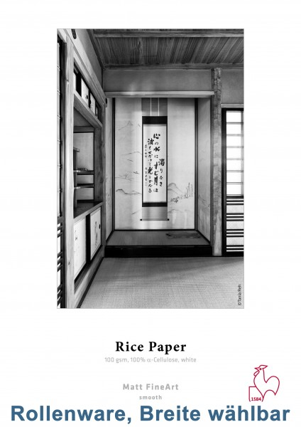 "Hahnemühle Rice Paper 100g/m² 12m-Rolle (3"" Kern)"